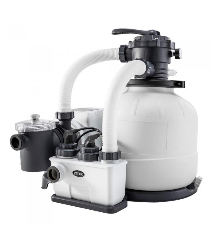 Хлоргенератор с песочным фильтр-насосом Intex 26676 6 000 л/ч!
