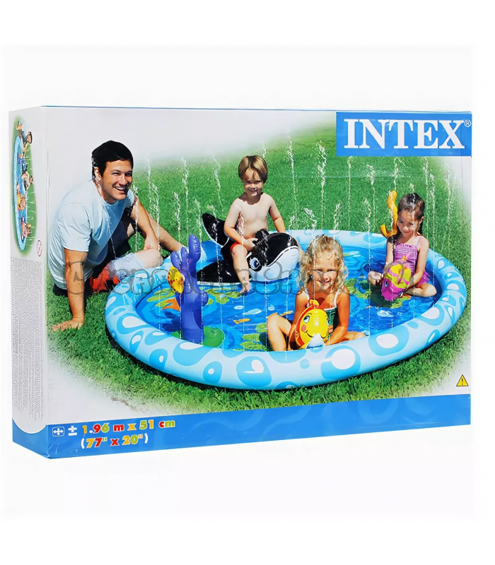 Бассейн Intex Seascape 57448 196x196x13 см!