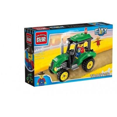 Конструктор Brick 1102 Трактор (112 деталей)