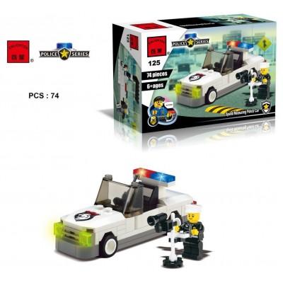 Конструктор Brick 125 Полицейская серия (74 детали)
