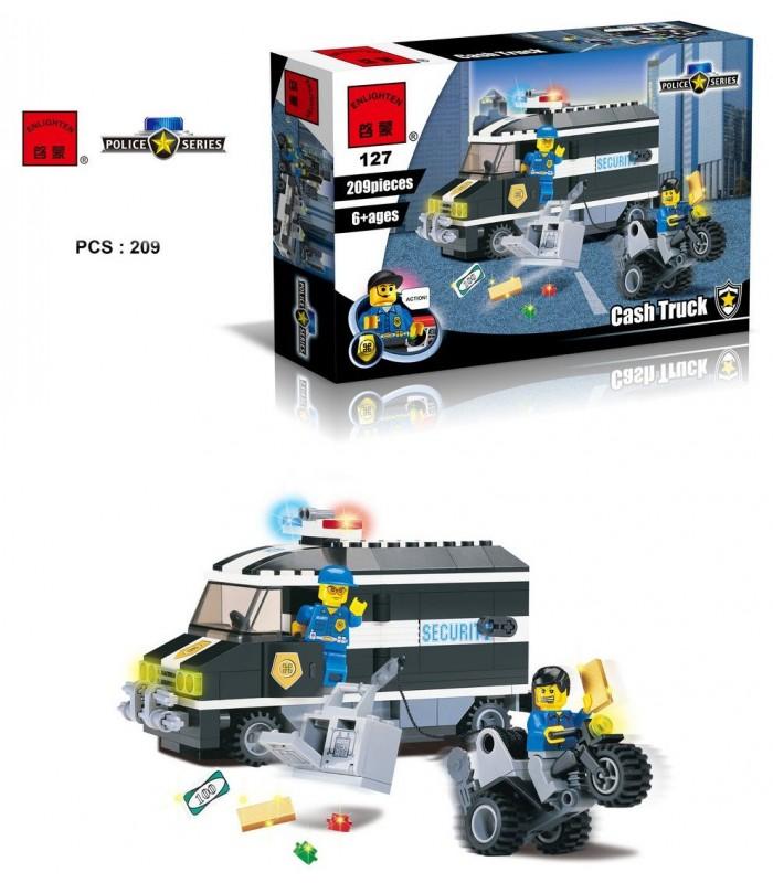 Конструктор Brick 127 Инкассаторская машина (209 деталей)