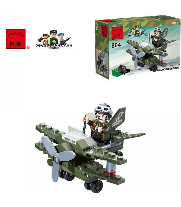 Конструктор Brick 804 Самолет-разведчик (50 деталей)