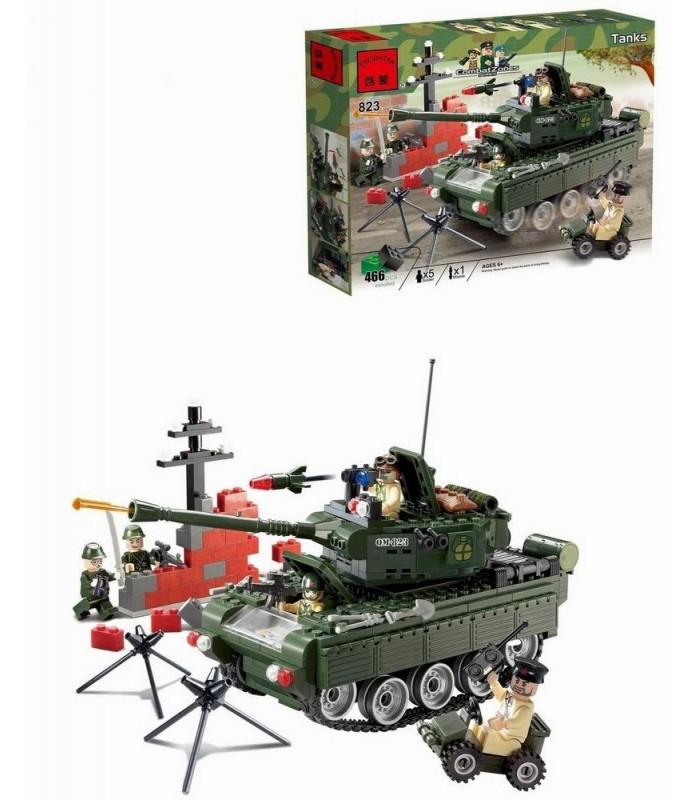 Конструктор Brick 823 Военный танк (466 деталей)