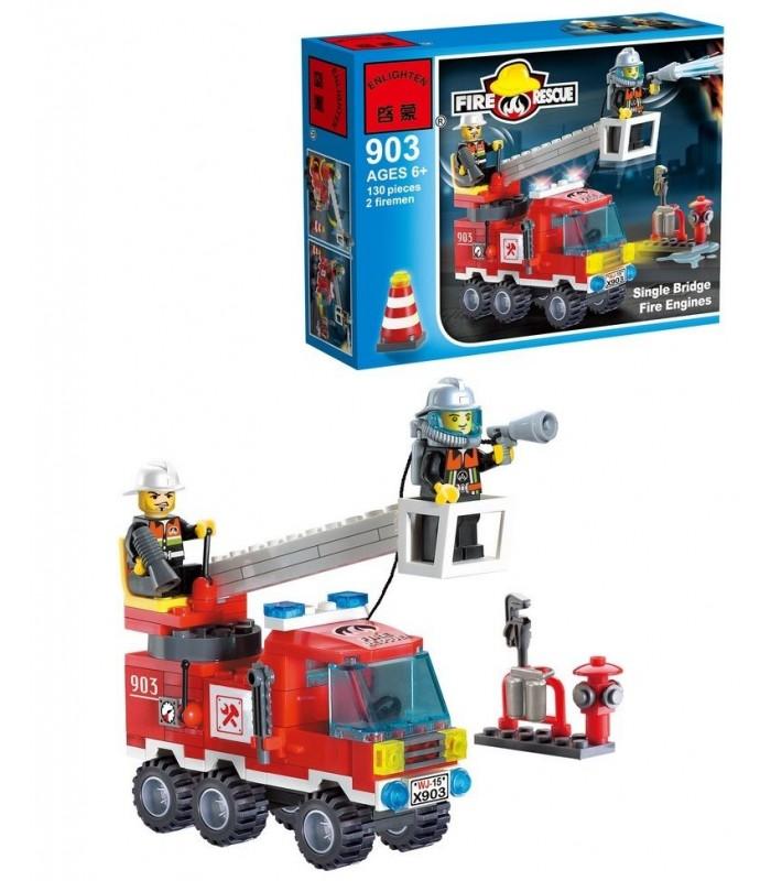 Конструктор Brick 903 Пожарная машина (130 деталей)