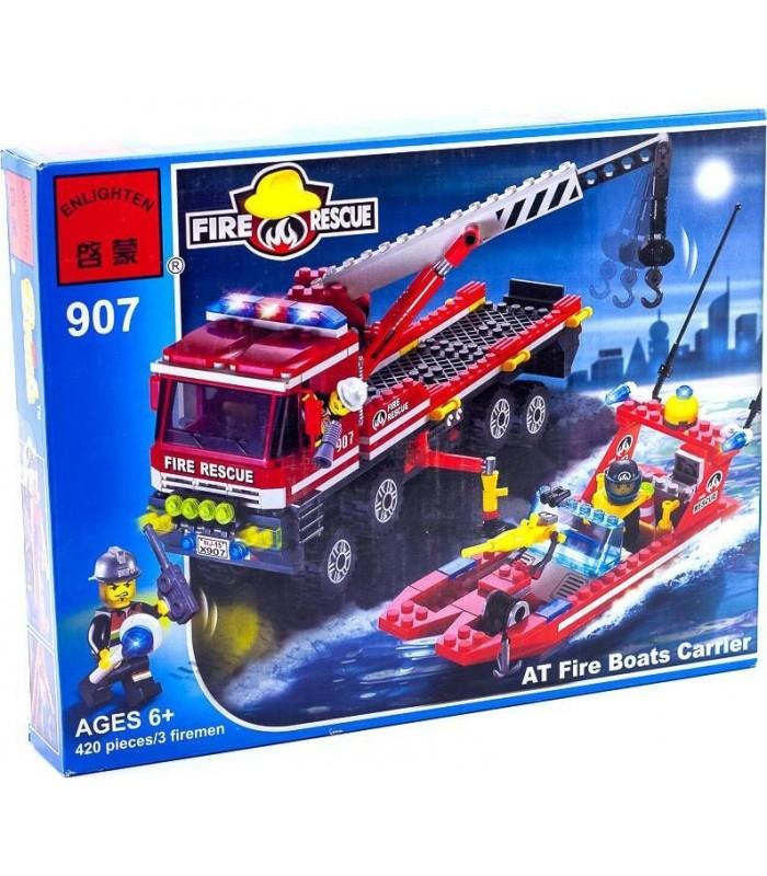 Конструктор Brick 907 Пожарная техника (420 деталей)