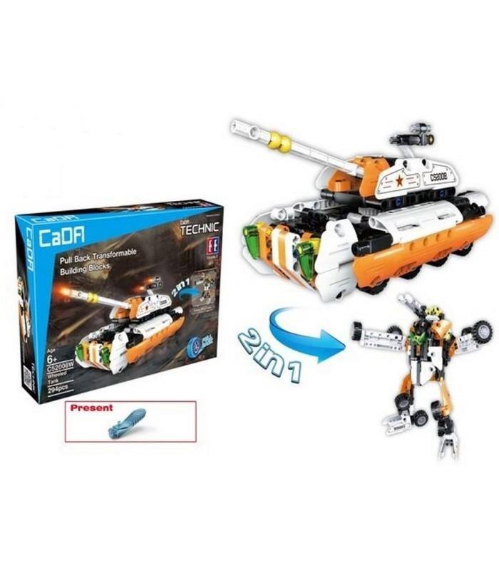 Конструктор Cada C52008W 2 в 1 (294 детали)