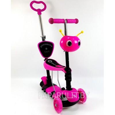 Ausini 4110A Самокат (розовый) 5в1