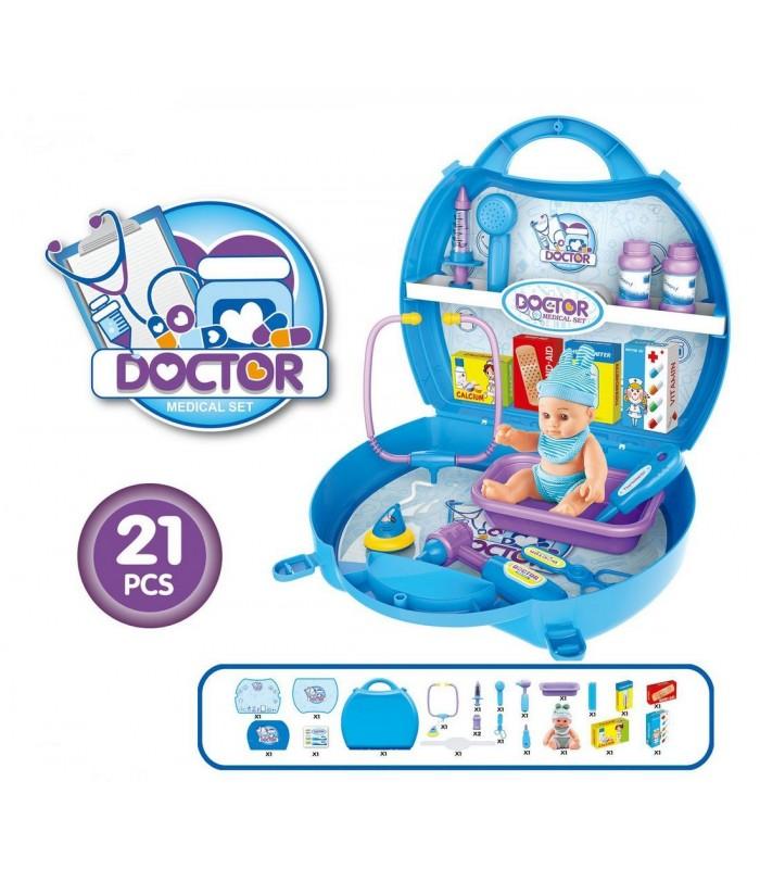 Игровой набор Bowa Доктор 30x28x10 см (21 предмет)