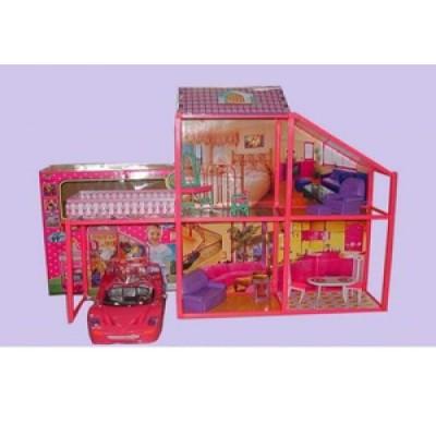 Домик для кукол 6981 76 см - с машиной