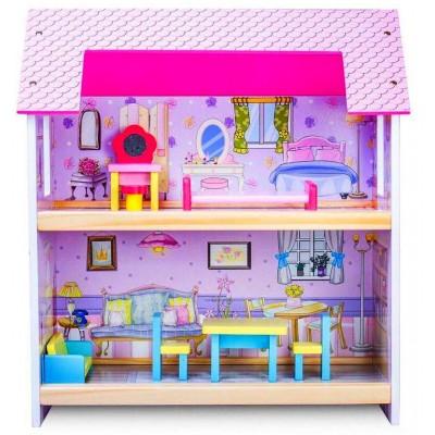 Деревянный домик для кукол 48 см
