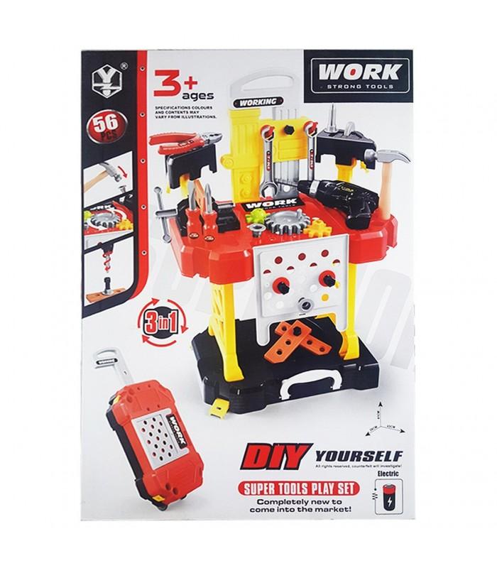Игровой набор Т108 Инструменты 43x26x61 см (56 предметов)