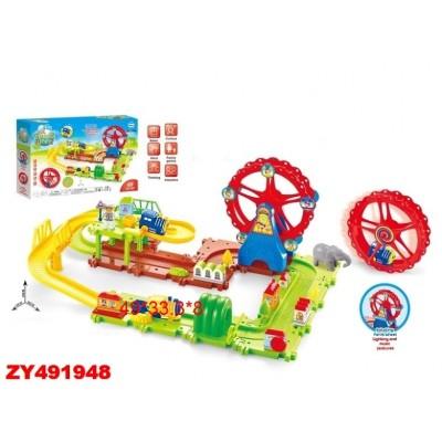 Ferris Wheel 1704 Железная дорога-конструктор Ausini (49 деталей, свет/звук)