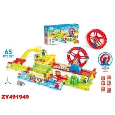 Ferris Wheel 1705 Железная дорога-конструктор Ausini (65 деталей, свет/звук)