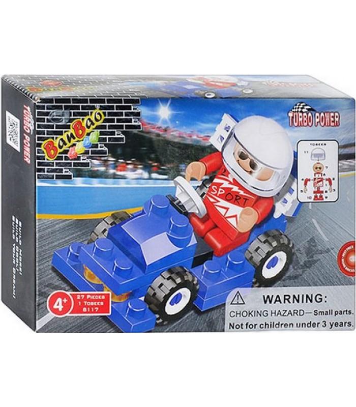 Конструктор Banbao 8117 Гоночная машинка (27 деталей)