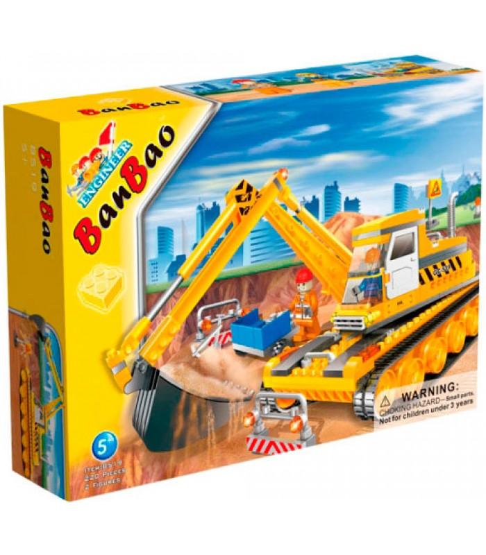 Конструктор Banbao 8519 Экскаватор (220 деталей)