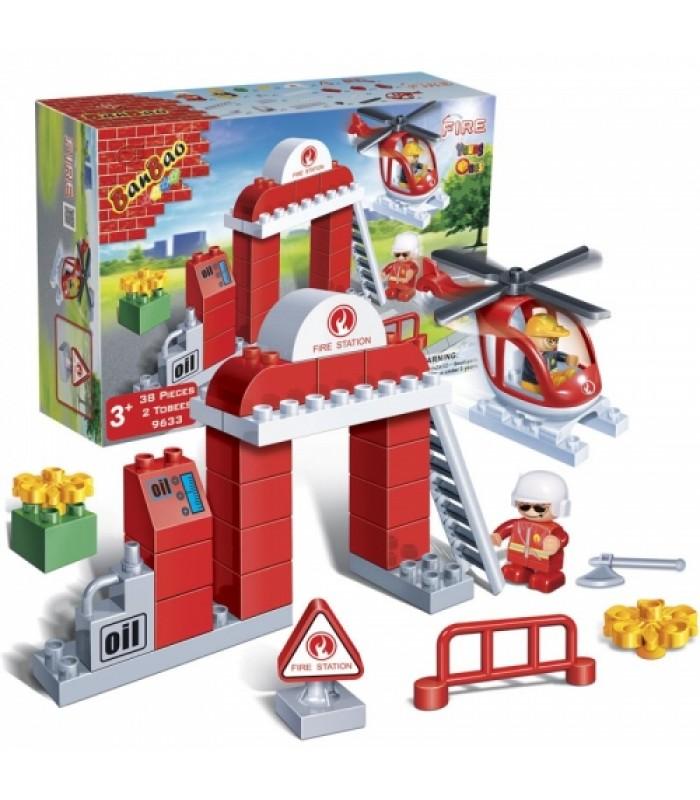 Конструктор Banbao 9633 Пожарные (34 детали)