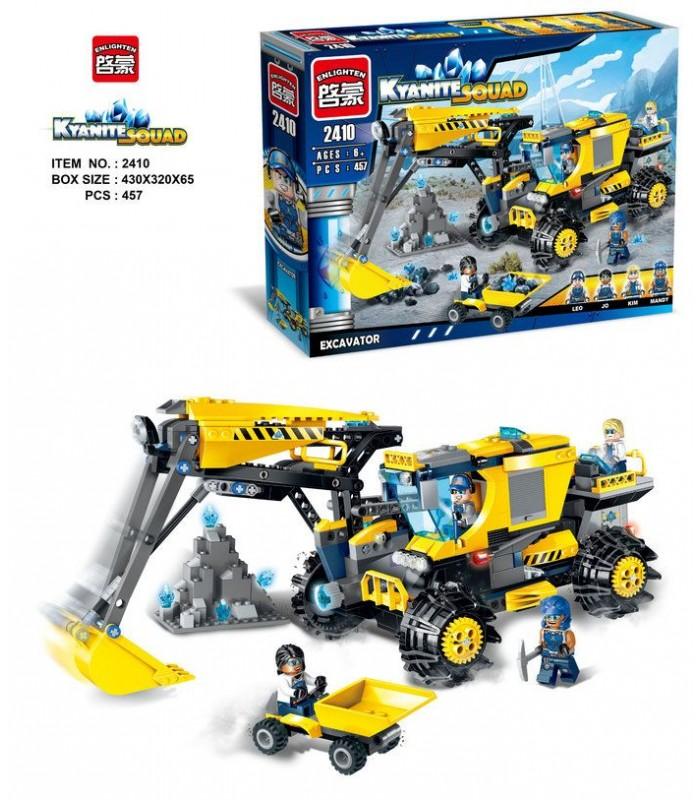 Конструктор Brick 2410 Экскаватор (457 деталей)