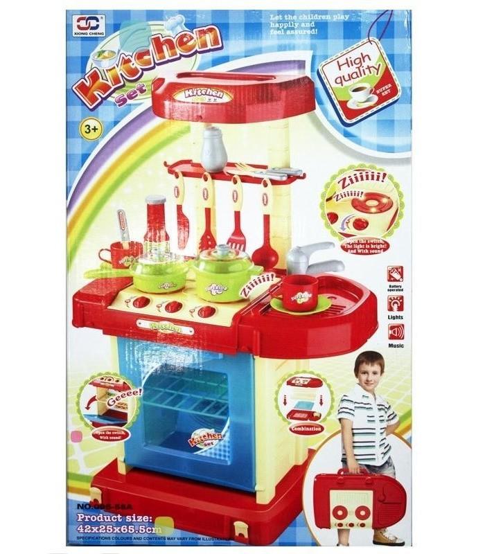 Игровая кухня Xiong Cheng 42x25,5x65,5 см (свет/звук)