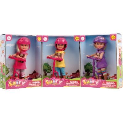 Кукла Defa с самокатом