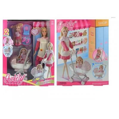 Кукла с малышом и коляской