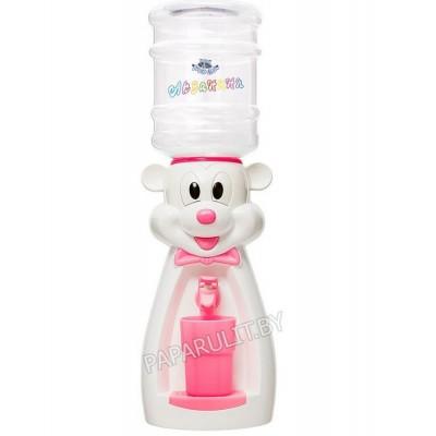 Детский кулер Акваняня Микки белый с розовым