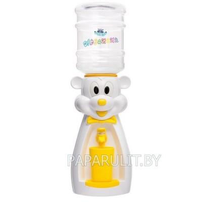 Детский кулер Акваняня Микки белый с желтым