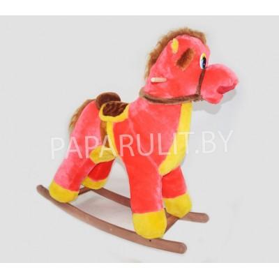 Качалка-лошадь набивная коралловая