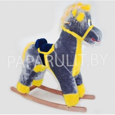 Качалка-лошадь набивная серая
