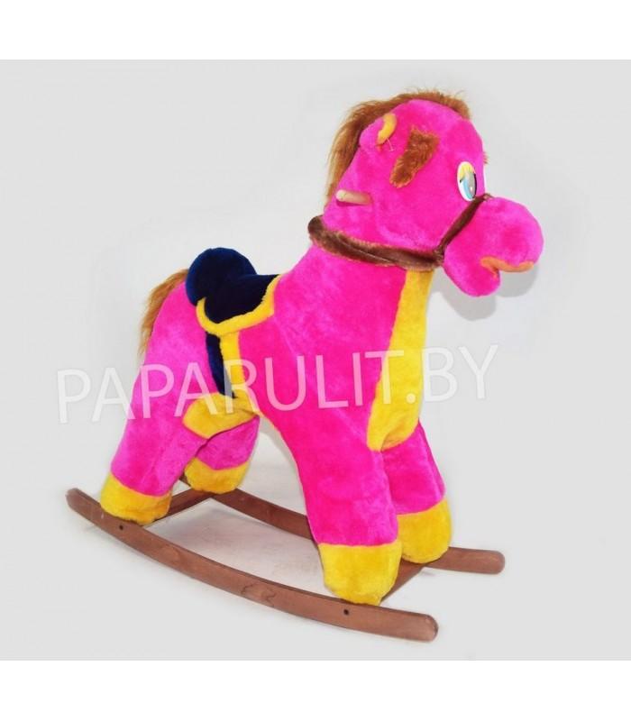Качалка-лошадь набивная малиновая