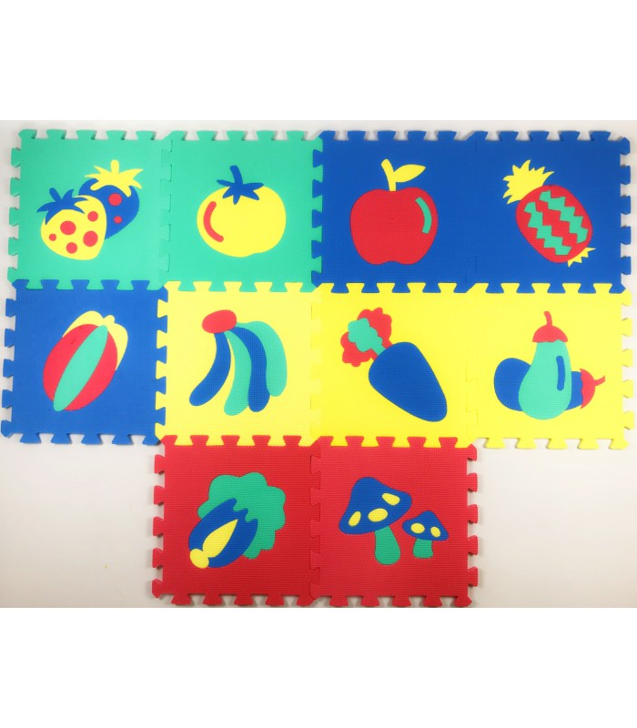 Коврики-пазлы с овощами и фруктами