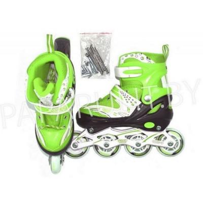 Роликовые коньки 2 в 1 (зеленый)