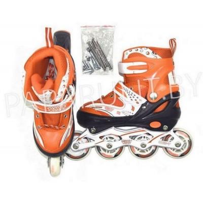 Роликовые коньки 2 в 1 (оранжевый)