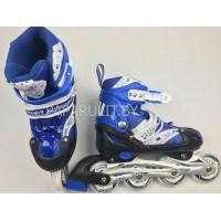 Роликовые коньки размеры: 31-34, 35-38, 39-42 цвет синий