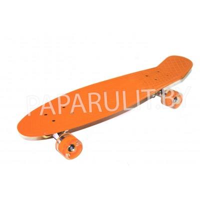 Скейтборд оранжевый