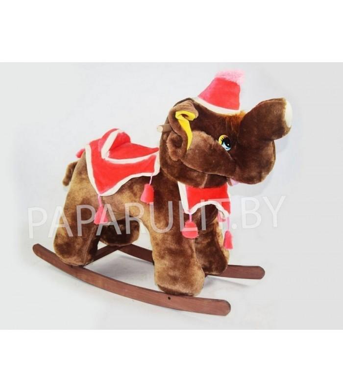 Качалка-слон набивной коричневый