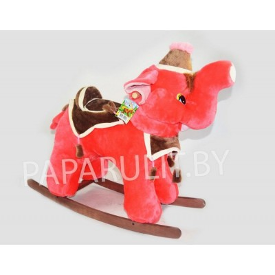 Качалка-слон набивной коралловый