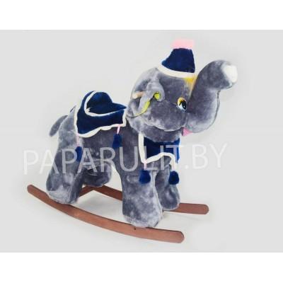 Качалка-слон набивной серый
