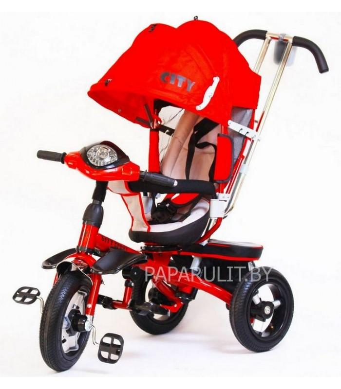 Велосипед Trike City с надувными колесами красный