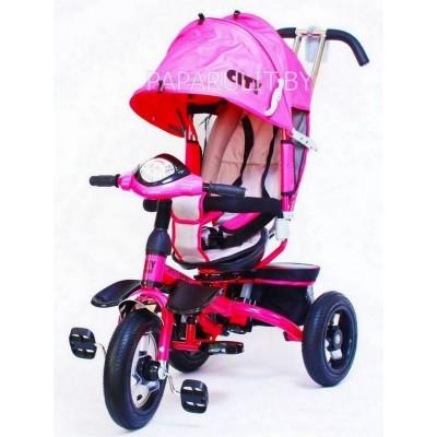 Велосипед Trike City с надувными колесами розовый