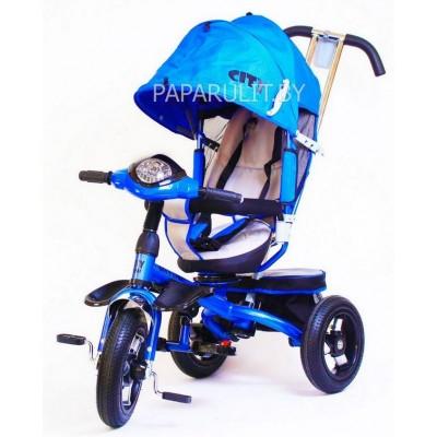 Велосипед Trike City с надувными колесами синий