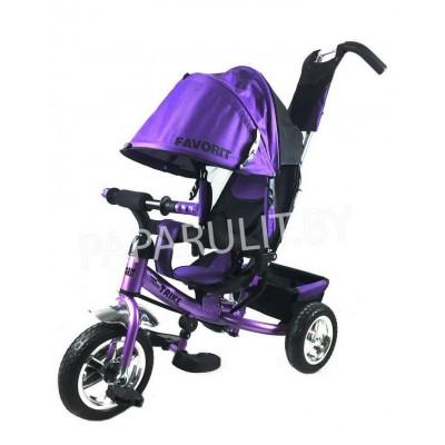 Велосипед Favorit с ПВХ колесами фиолетовый