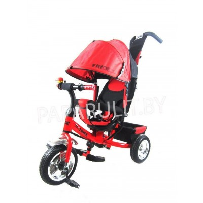 Велосипед Favorit с ПВХ колесами красный