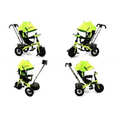 Велосипед Favorit с надувными колесами и поворотным сиденьем зеленый