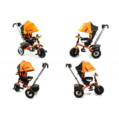 Велосипед Favorit с надувными колесами и поворотным сиденьем оранжевый