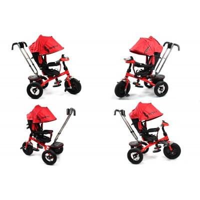 Велосипед Favorit с надувными колесами и поворотным сиденьем красный