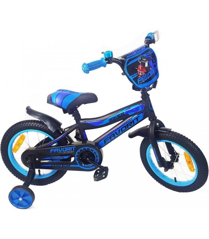 Велосипед Favorit Biker 16 (черный/синий, 2019)
