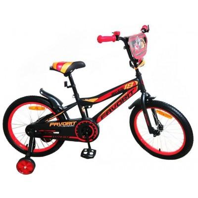 Велосипед Favorit Biker 16 (черный/красный, 2019)