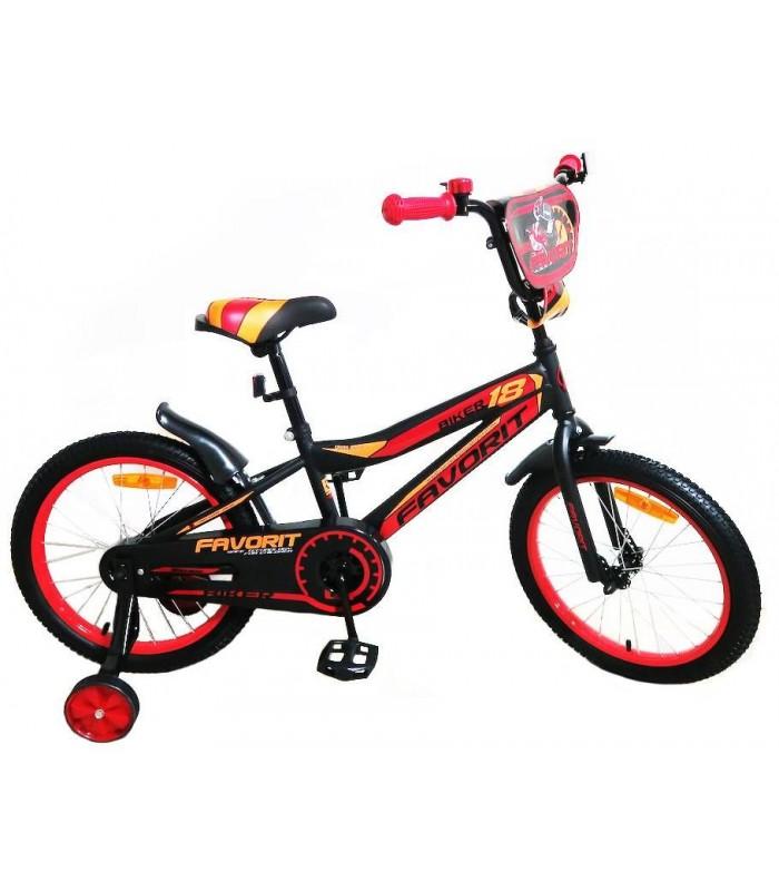 Велосипед Favorit Biker 18 (черный/красный, 2019)