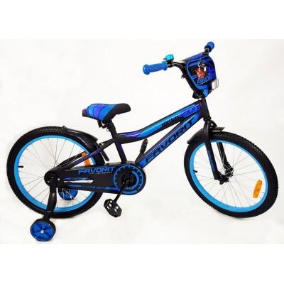 Велосипед Favorit Biker 20 (черный/синий, 2019)