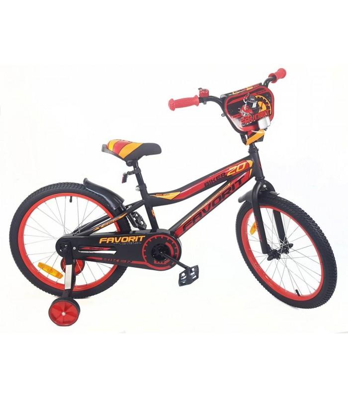 Велосипед Favorit Biker 20 (черный/красный, 2019)
